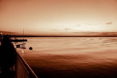 sunset lake view