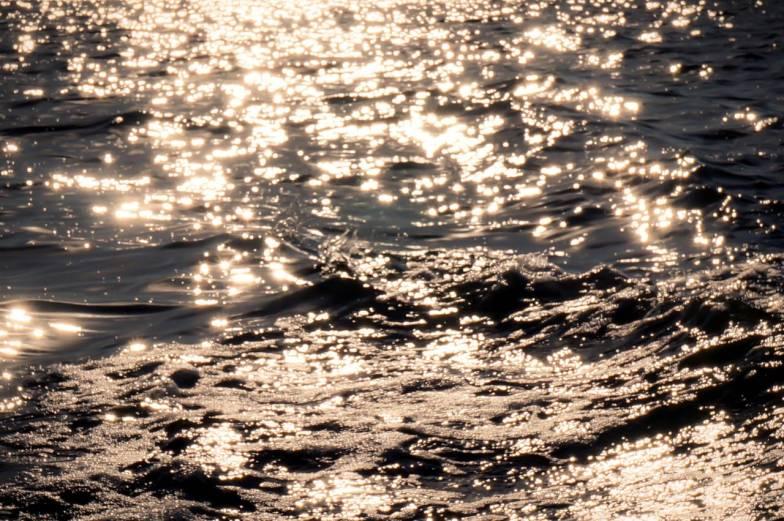 golden water sparkles